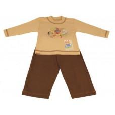 Костюм детский, бежево-коричневый