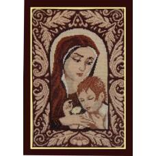 """Вышитая картина """"Мать и дитя"""""""