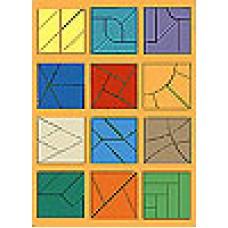 Большой деревянный Сложи квадрат-3 Стандарт