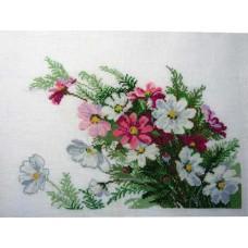 """Вышитая картина """"Летние цветы"""""""