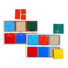 Большой деревянный Сложи квадрат-1 Стандарт